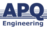 APQ Engineering logo in blue